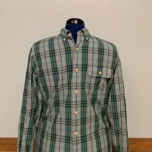 Nautical Classic Fit Button Up w/ Pocket Men's (S)